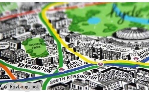 地图上标记多个地点